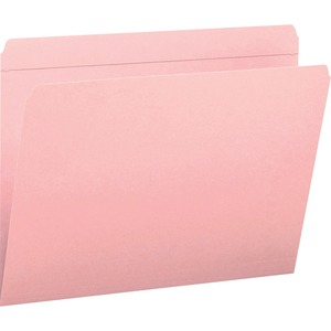Smead 12610 Pink Colored File Folders with Reinforced Tab SMD12610