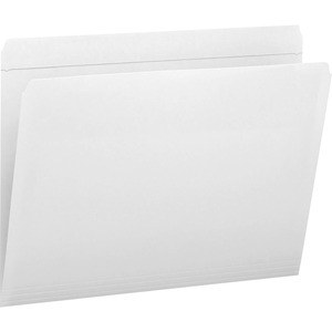 Smead 12810 White Colored File Folders with Reinforced Tab SMD12810