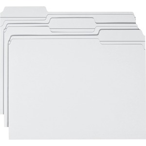 Smead 12834 White Colored File Folders with Reinforced Tab SMD12834