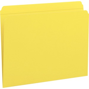 Smead 12910 Yellow Colored File Folders with Reinforced Tab SMD12910
