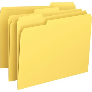 Smead 12943 Yellow Colored File Folders SMD12943