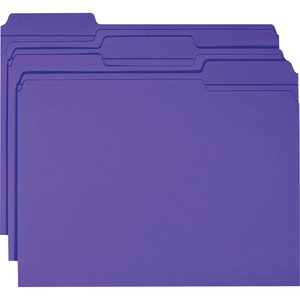 Smead 13034 Purple Colored File Folders with Reinforced Tab SMD13034