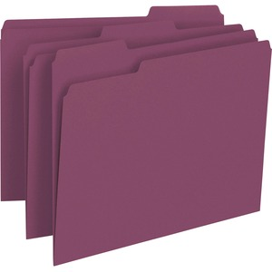 Smead 13093 Maroon Colored File Folders SMD13093