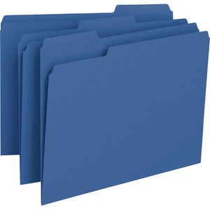 Smead 13193 Navy Blue Colored File Folders SMD13193