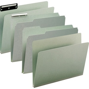 Smead 13230 Gray/Green Pressboard File Folders SMD13230