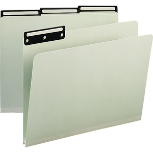 Smead 13430 Gray/Green Colored Pressboard File Folders SMD13430