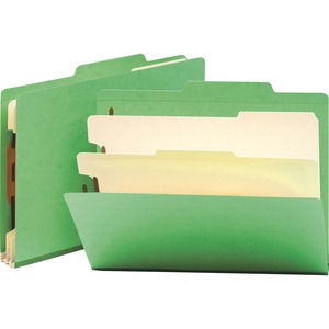 Smead 14002 Green Classification File Folders SMD14002