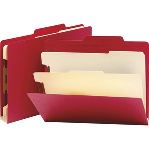 Smead 14003 Red Classification File Folders SMD14003