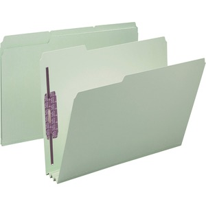 Smead 14944 Gray/Green Pressboard Fastener File Folders with SafeSHIELD Fasteners SMD14944