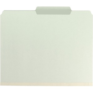 Smead 14982 Gray/Green Pressboard Fastener File Folders with SafeSHIELD Fasteners SMD14982