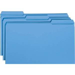 Smead 17034 Blue Colored File Folders with Reinforced Tab SMD17034