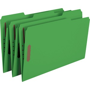 Smead 17140 Green Colored Fastener File Folders with Reinforced Tabs SMD17140