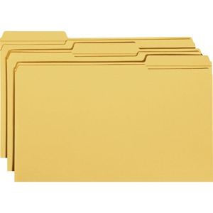 Smead 17234 Goldenrod Colored File Folders with Reinforced Tab SMD17234