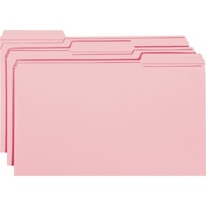 Smead 17634 Pink Colored File Folders with Reinforced Tab SMD17634