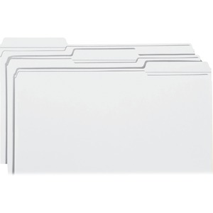 Smead 17834 White Colored File Folders with Reinforced Tab SMD17834