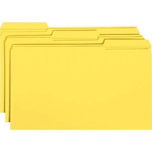 Smead 17934 Yellow Colored File Folders with Reinforced Tab SMD17934
