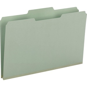 Smead 18230 Gray/Green Pressboard File Folders SMD18230