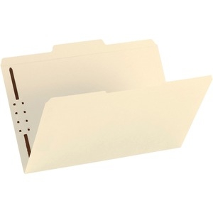 Smead 19534 Manila Fastener File Folders with Reinforced Tab SMD19534