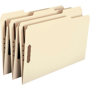 Smead 19547 Manila 100% Recycled File Fastener Folders with Reinforced Tab SMD19547