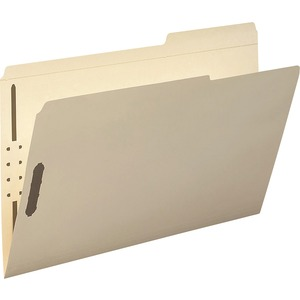 Smead 19587 Manila Fastener File Folders with Reinforced Tab SMD19587