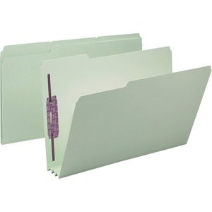 Smead 19944 Gray/Green Pressboard Fastener File Folders with SafeSHIELD Fasteners SMD19944
