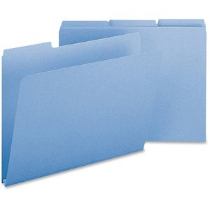 Smead 21530 Blue Colored Pressboard File Folders SMD21530