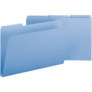 Smead 22530 Blue Colored Pressboard File Folders SMD22530