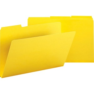 Smead 22562 Yellow Colored Pressboard File Folders SMD22562