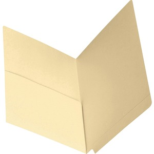 Smead 24115 Manila End Tab Pocket Folders with Reinforced Tab SMD24115