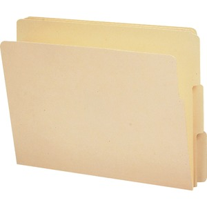 Smead 24134 Manila End Tab File Folders with Reinforced Tab SMD24134