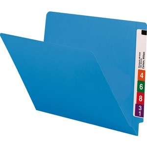 Smead 25010 Blue End Tab Colored File Folders with Reinforced Tab SMD25010
