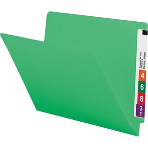 Smead 25110 Green End Tab Colored File Folders with Reinforced Tab SMD25110