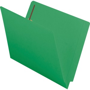 Smead 25140 Green End Tab Colored Fastener File Folders with Reinforced Tab SMD25140
