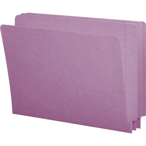 Smead 25410 Lavender End Tab Colored File Folders with Reinforced Tab SMD25410