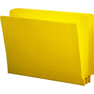 Smead 25910 Yellow End Tab Colored File Folders with Reinforced Tab SMD25910