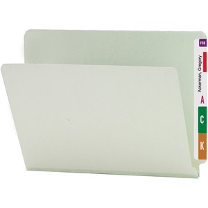 Smead 26200 Gray/Green End Tab Pressboard File Folders SMD26200