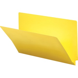 Smead 28940 Yellow End Tab Colored Fastener File Folders with Reinforced Tab SMD28940