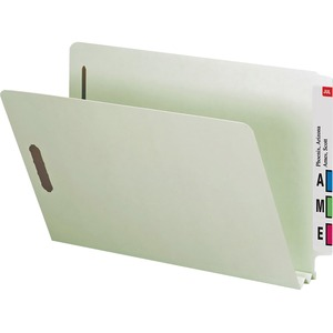 Smead 29210 Gray/Green End Tab Pressboard File Folders SMD29210