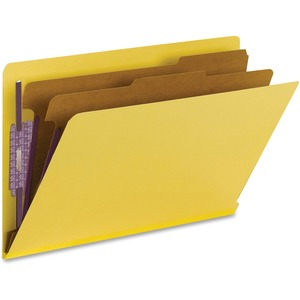 Smead 29789 Yellow End Tab Pressboard Classification Folders with SafeSHIELD Fasteners SMD29789