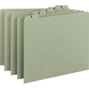 Smead 50369 Gray/Green 100% Recycled Pressboard Guides with Monthly and Daily Indexed Sets SMD50369
