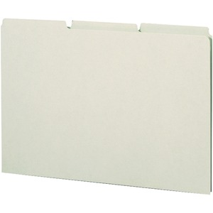 Smead 52334 Gray/Green Pressboard Guides with Blank Tab SMD52334