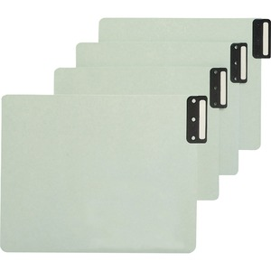 Smead 61635 Gray/Green 100% Recycled Extra Wide End Tab Pressboard Guides with Vertical Metal Tab SMD61635