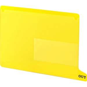 Smead 61956 Yellow End Tab Poly Out Guides - Two-Pocket Style SMD61956