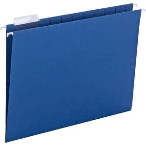 Smead 64057 Navy Blue Colored Hanging Folders with Tabs SMD64057