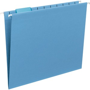 Smead 64060 Blue Colored Hanging Folders with Tabs SMD64060