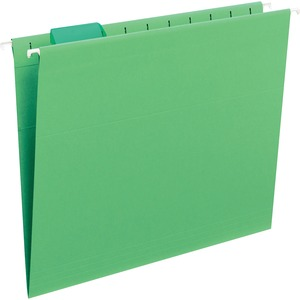 Smead 64061 Green Colored Hanging Folders with Tabs SMD64061