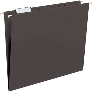 Smead 64062 Black Colored Hanging Folders with Tabs SMD64062