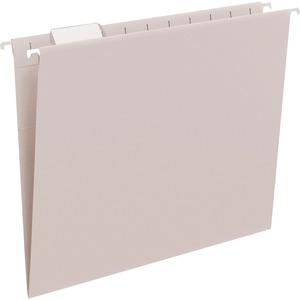 Smead 64063 Gray Colored Hanging Folders with Tabs SMD64063