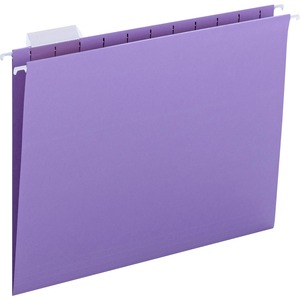 Smead 64064 Lavender Colored Hanging Folders with Tabs SMD64064