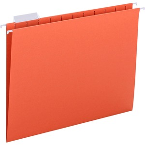 Smead 64065 Orange Colored Hanging Folders with Tabs SMD64065